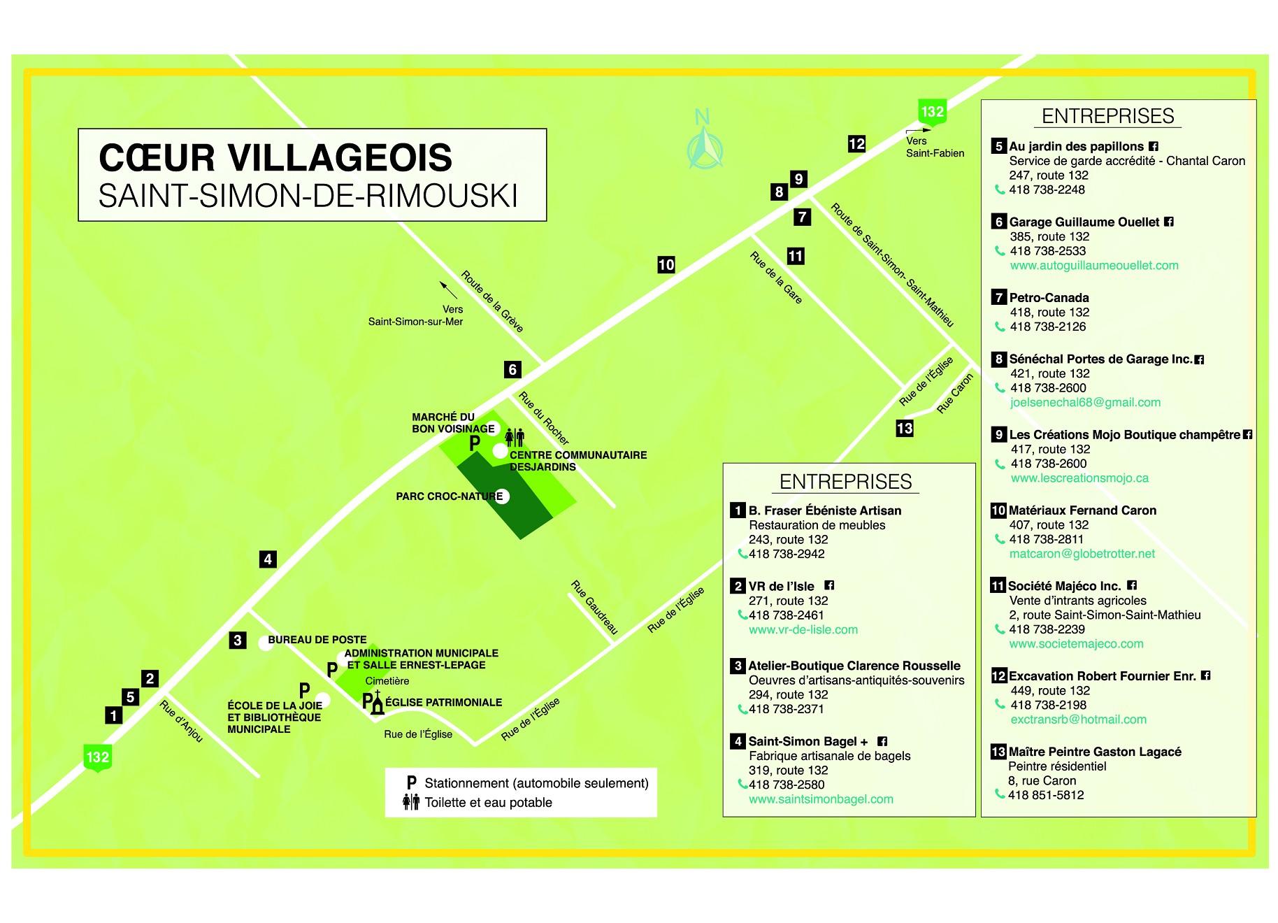 Carte cœur villageois de Saint-Simon-de-Rimouski